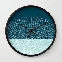 Geometric Blue Skys Wall Clock