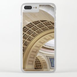 Wisconsin Capitol Building Arches And Angles Clear iPhone Case