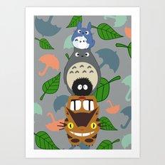 Troll Totem Art Print