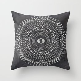 Music note mandala 2 (chalk) Throw Pillow