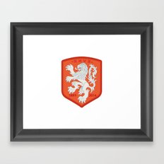 Holland 2014 Brasil World Cup Crest Framed Art Print