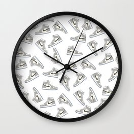 Jordan 1 OG Grey Pattern Wall Clock