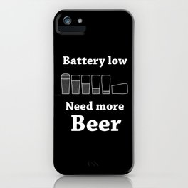 Once Charge Up Beer iPhone Case