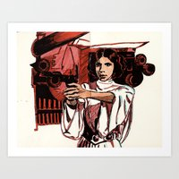 princess leia Art Prints featuring Leia by FriedPies