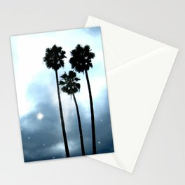 Twilight Palm Trees Stationery Cards
