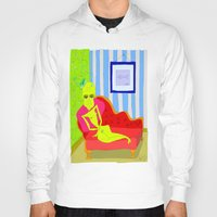 "matisse Hoodies featuring ""Stealing Matisse"" (Picasso Watching) by correia creative"