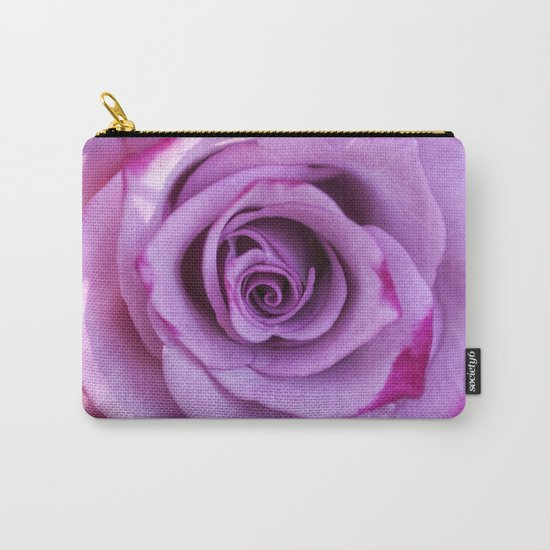 Heart of a rose I - Pink and purple Roses flowers Carry-All Pouch