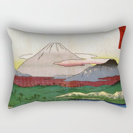 Noge and Yokohama by Hiroshige Rectangular Pillow