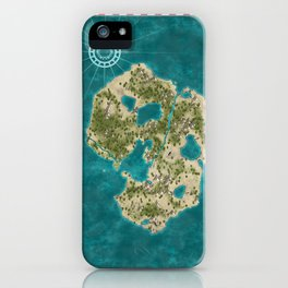 Pirate Adventure Map iPhone Case