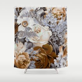wintery floral Shower Curtain