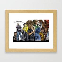 Episodes Framed Art Print