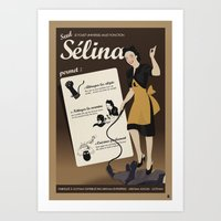 Sélina (version française) Art Print
