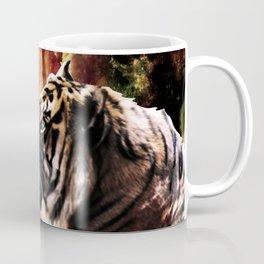 Tiger Stroll Through the Glittery Galaxy Ravine Coffee Mug