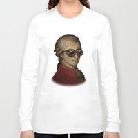 mozart Long Sleeve T-shirts featuring Funny Steampunk Mozart by Paul Stickland for StrangeStore