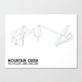 Mountain Creek, NJ - Minimalist Trail Art Canvas Print