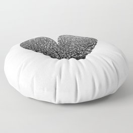 BLACK HEART Floor Pillow
