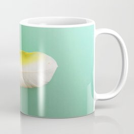 Single, Pale Yellow Feather Coffee Mug