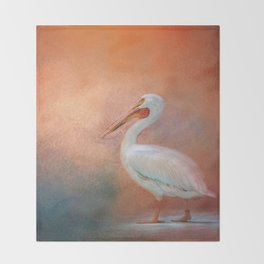 Pelican Walk Throw Blanket