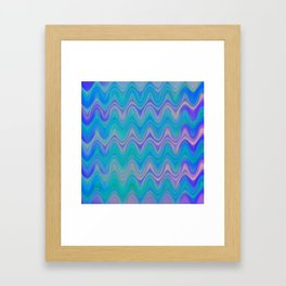 Agate Wave Lilac - Mineral Series 003 Framed Art Print
