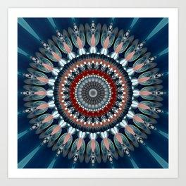 Festive Winter Night Mandala Art Print