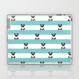 schnauzer stripes dog breed gifts Laptop & iPad Skin