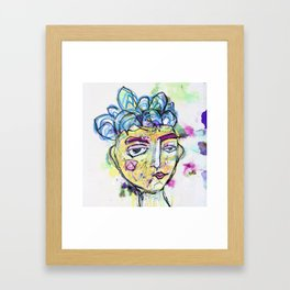 She is imperfect, but she tries Framed Art Print