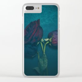Three roses Clear iPhone Case