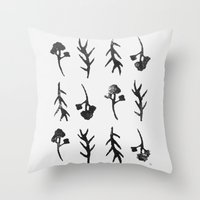 plants Throw Pillows featuring plants by Ingrid Winkler