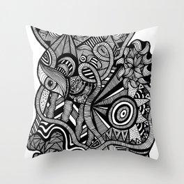 Tangled Trunk Throw Pillow