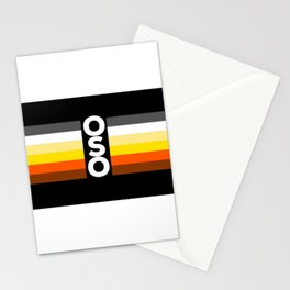 Oso / Bear Flag for LGBT pride or Bear Week Stationery Cards