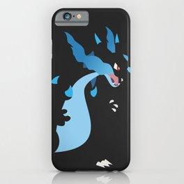 Mega Charizard X PKMN iPhone Case