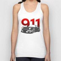 porsche Tank Tops featuring Porsche 911 by Vehicle
