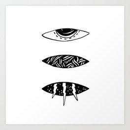 3 Art Print