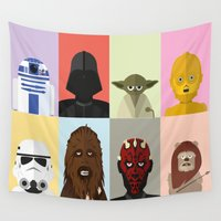 sci fi Wall Tapestries featuring Sci-Fi Collage by FioMedina