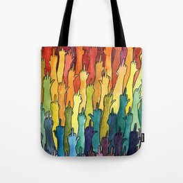 rainbow power Tote Bag