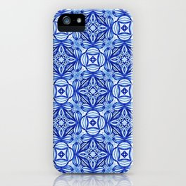 For the Love of Blue - Pattern 372 iPhone Case