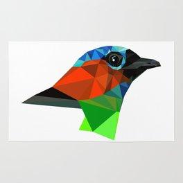 Bird art Saira Nature Animals Geometric Rug
