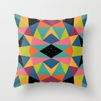 kaleidoscope Throw Pillows featuring Kaleidoscope by Andy Westface