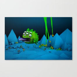 Giant Mutant Fish Canvas Print