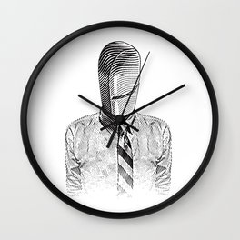 Pill Addict with Painkiller Head. Wall Clock