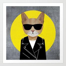 Cool Cat 3 Art Print