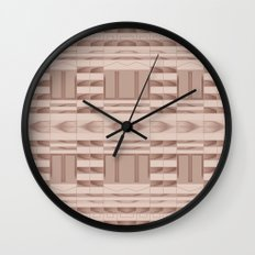 Beige Windows Abstract Wall Clock