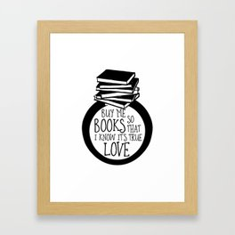 Bookish Engagment Framed Art Print