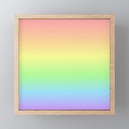 Pastel Rainbow Gradient Framed Mini Art Print