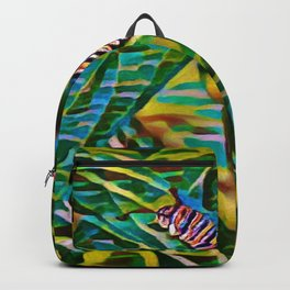 Caterpillar Fiesta | Oil Painting Backpack