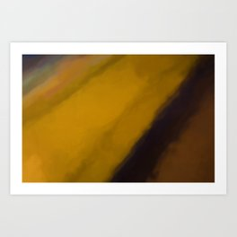 Abstract Yellow and Brown Shades.  Like painted on canvas. Art Print