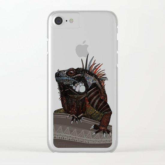 iguana gold Clear iPhone Case