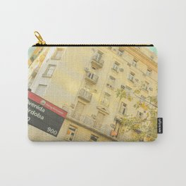 Avenida Córdoba  1000 - 9000 (Retro and Vintage Urban, architecture photography) Carry-All Pouch