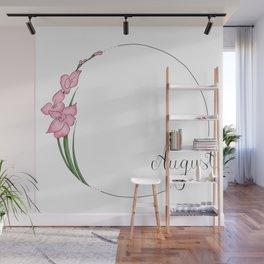 August - Flower Months  Wall Mural