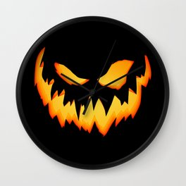 Evil Pumpkin Wall Clock